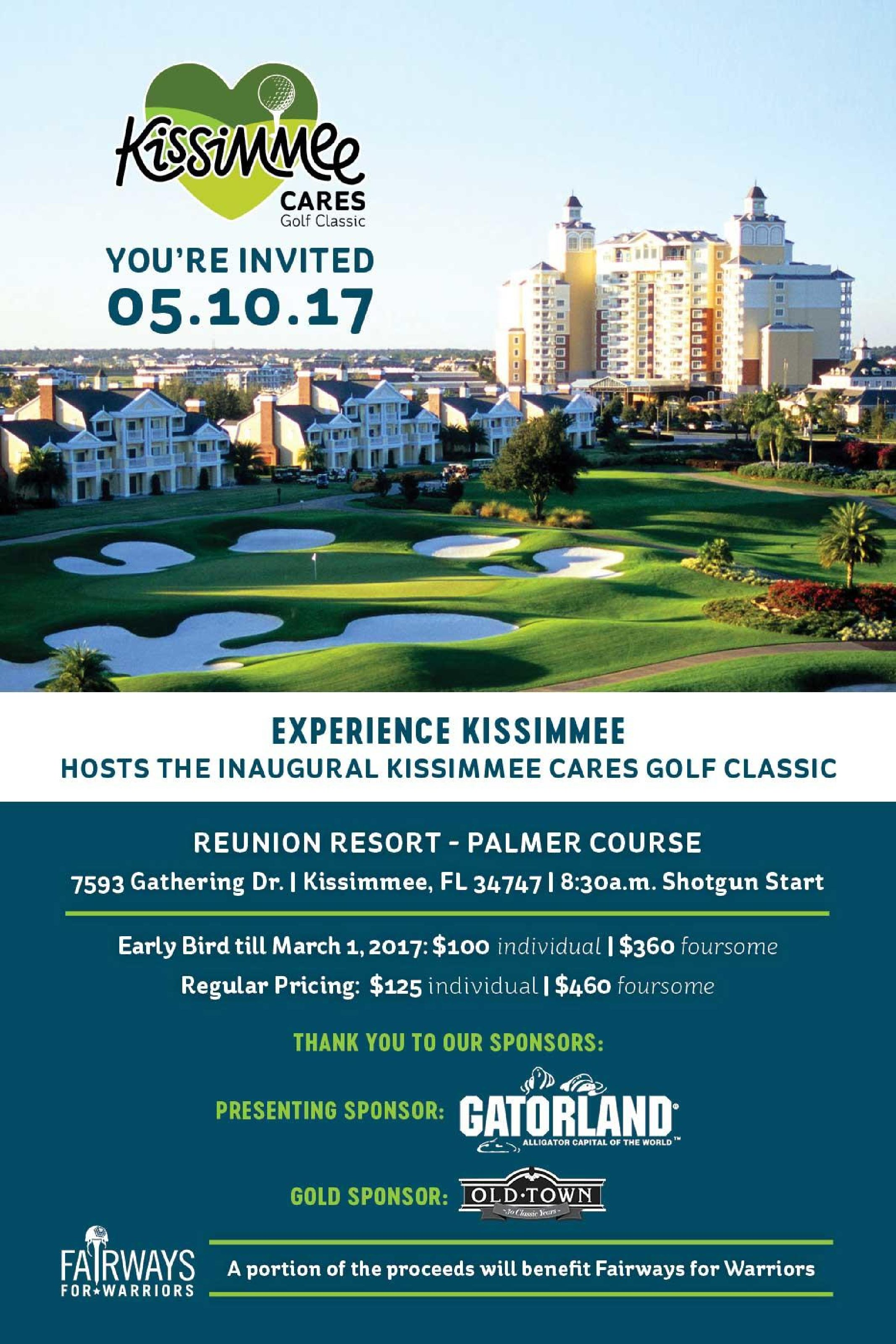 Kissimmee Cares Golf Classic to Benefit Fairways for Warriors