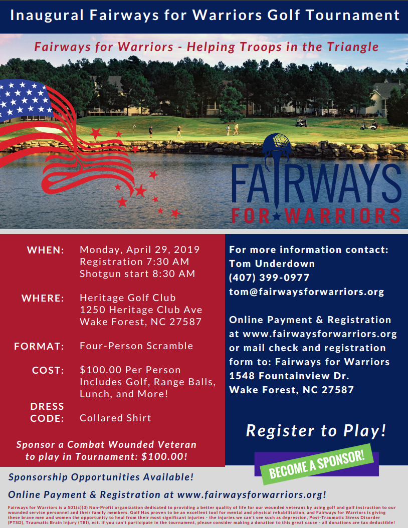 2018 Fairways for Warriors Bloody Mary Invitational flyer